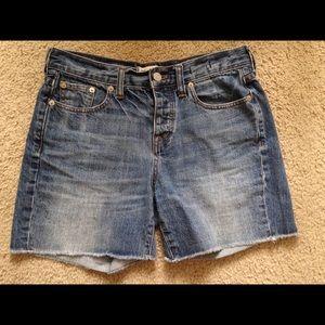 MadewellButton Fly Hi-rise Denim Shorts 25